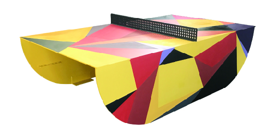 popp flagship ping pong table artwork redbox design hurben
