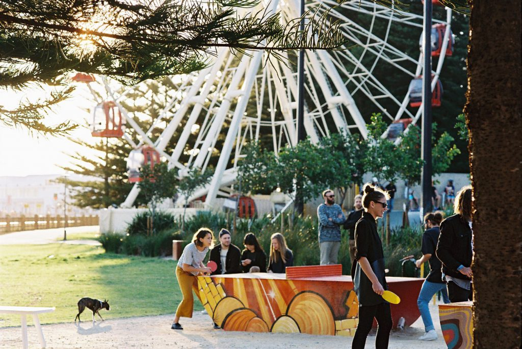 popp flagship table tennis table fremantle esplanade placemaking
