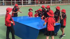 popp ping pong table tennis wembley downs perth australia primary school