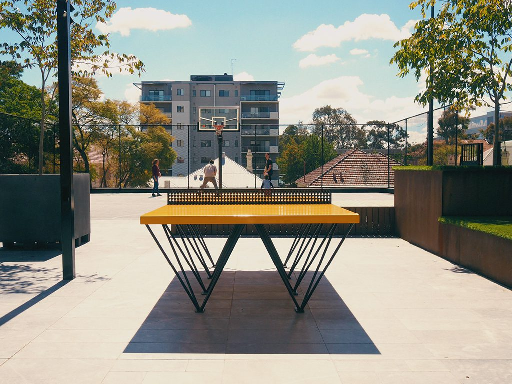POPP ICON ping pong table placement at 66 Kings Park Road Perth