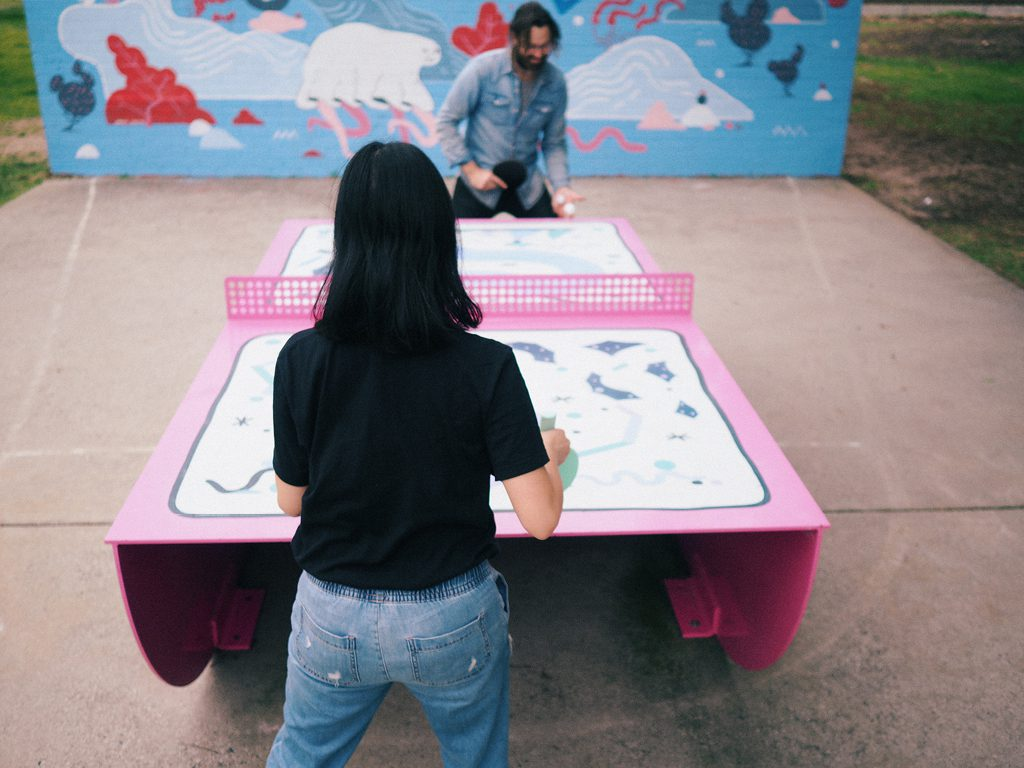 Outdoor Ping Pong Table by POPP
